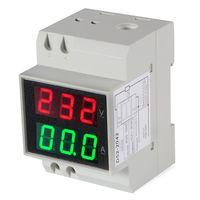 DIN рейка цифровой ампервольтметр АС 80-300V 100A