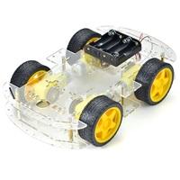 Конструктор робот - шасси автомобиля 4WD с приводами для Arduino