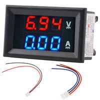 DC 0-100V 10A Амперметр/Вольтметр постоянного тока светодиодный цифровой