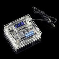 Цифровой контроллер температуры DC12V с синим дисплеем в акриловом корпусе