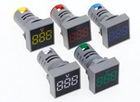 Вольтметр AC 20 - 500V цифровой светодиодный квадратный дисплей