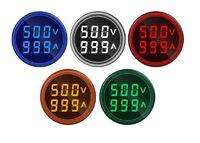 Круглый ампервольтметр, LED дисплей, АС 60 - 500 В, 100А