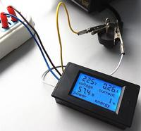 Измеритель переменного напряжения, тока, ваттметр, счётчик Вт/ч. AC 220V/20А