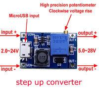 Повышающий модуль Step Up конвертер DC USB 2-24V to 5-28V 2A