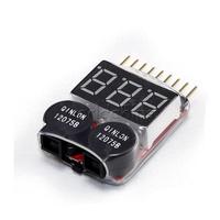 Вольтметр тестер разряда 1 - 8 шт RC Li-ion литий - полимерных аккумуляторов со звуковым сигналом